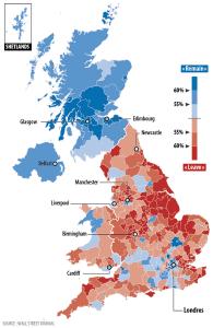 vote par régions